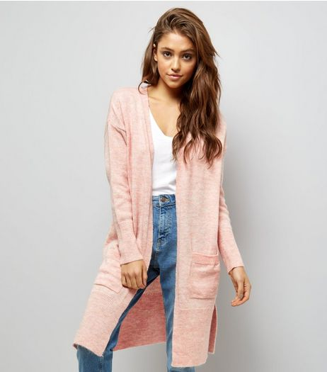 Shell Pink Ribbed Cardigan | New Look
