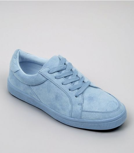 Teens Blue Suedette Trainers | New Look