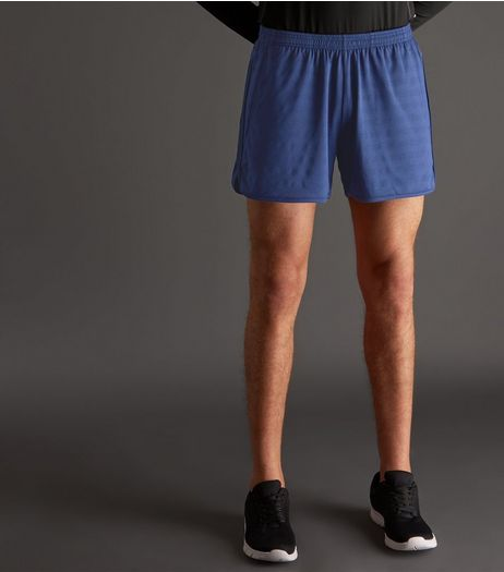 Blue Woven Stripe Running Shorts | New Look