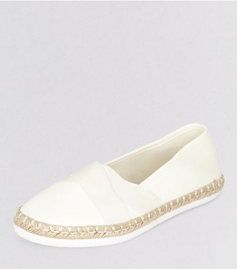 White Elasticated Top Espadrilles | New Look