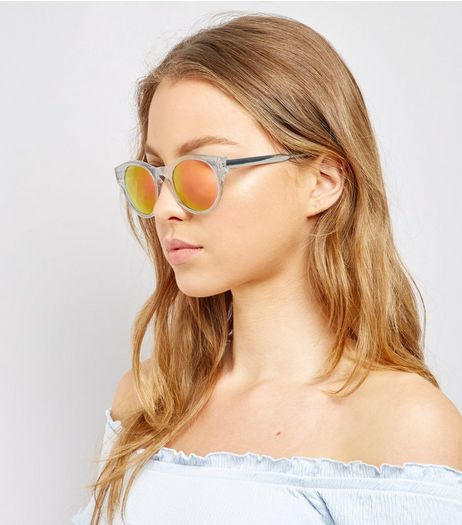 Transparent Holographic Lense Sunglasses | New Look