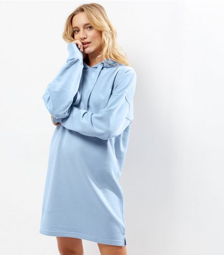 Blue Hooded Sweater Dress | New Look