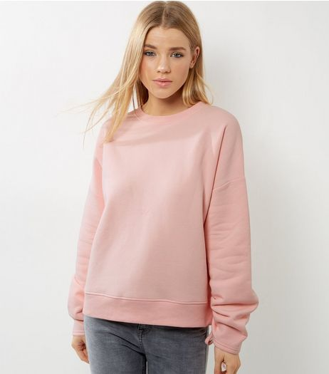Pink Ruched Sleeve Sweater | New Look