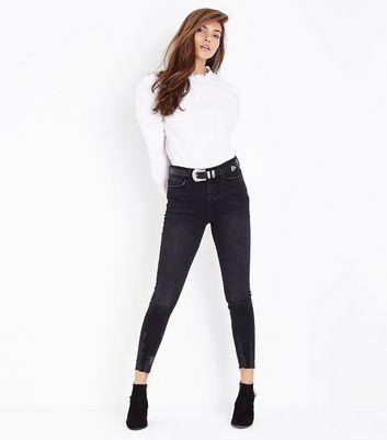 Black Fray Hem Skinny Jenna Jeans