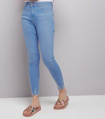 Blue Fray Hem Skinny Jenna Jeans