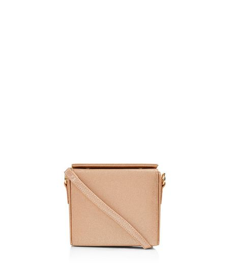 Rose Gold Fold Over Mini Box Bag | New Look