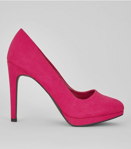 Pink Pointed Court Heels | New Look