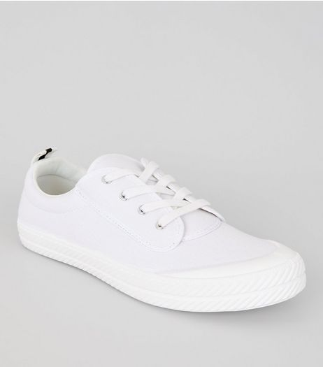 White Textured Trainers | New Look