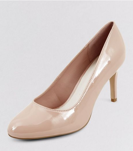 Nude Comfort Patent Court Shoes | New Look