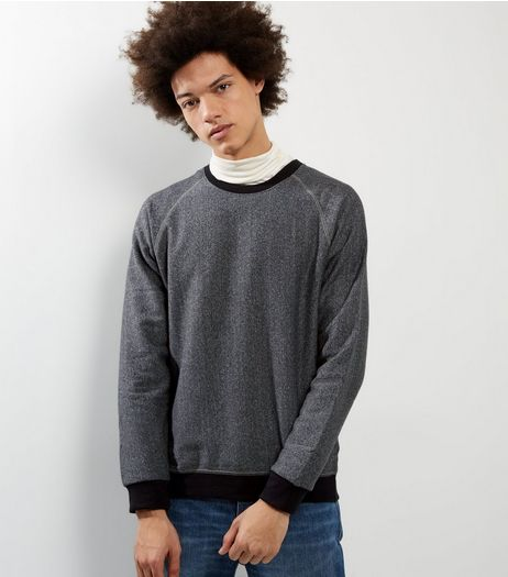 Grey Raglan Contrast Trim Jumper | New Look