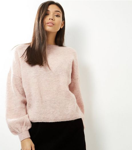 Pink Balloon Sleeve Jumper | New Look