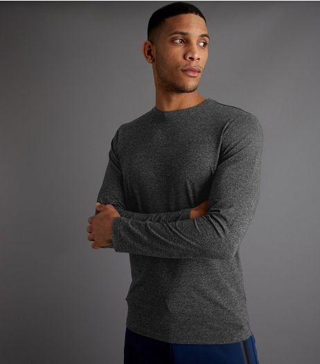 Grey Long Sleeve Crew Neck Top | New Look