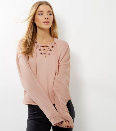 Pink Lattice Front Hoodie | New Look