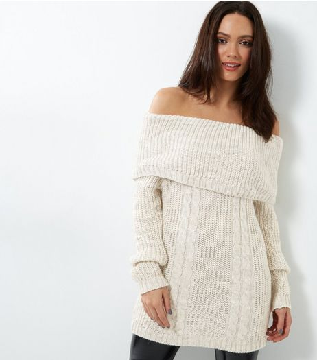 Loving This Cable Knit Bardot Jumper | New Look