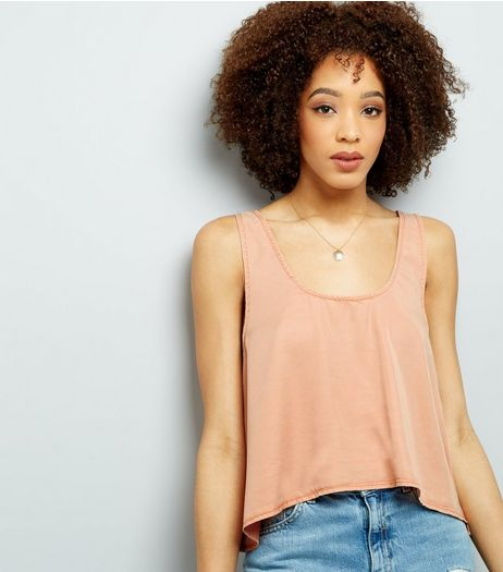 Noisy May Orange Cropped Sleeveless Top  | New Look
