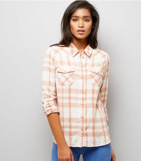 Noisy May Orange Long Sleeve Shirt  | New Look