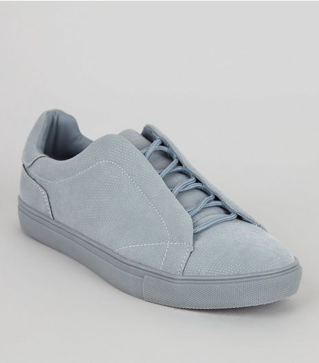 Blue Lace Up Trainers | New Look