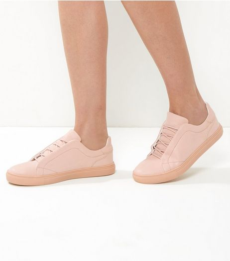 Pink Lace Up Trainers | New Look