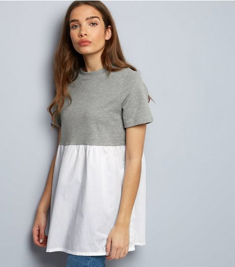 Noisy May White Colour Block Top | New Look