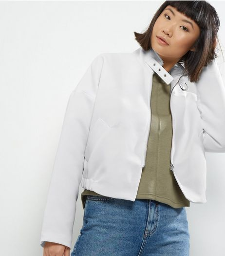 Noisy May White Biker Jacket  | New Look