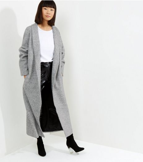 Grey Boucle Maxi Coat | New Look