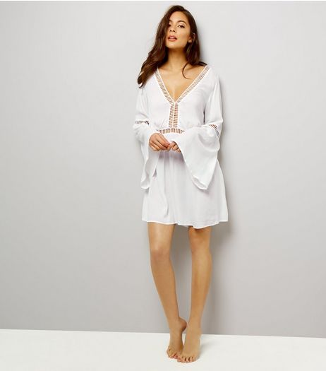 White Ladder Trim Kaftan | New Look