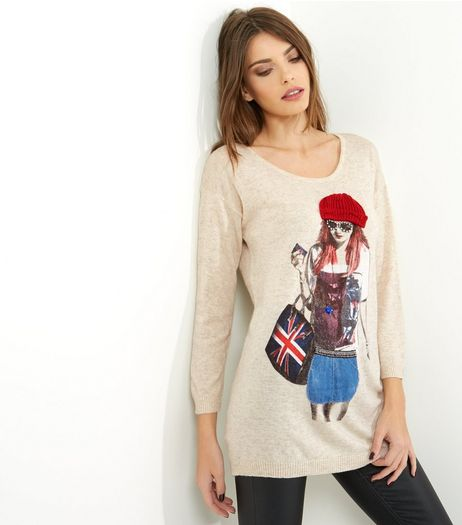 Mela Grey Beanie Girl Long Sleeve Jumper | New Look