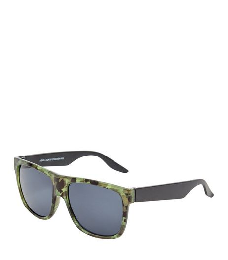 Khaki Camo Print Sunglasses | New Look