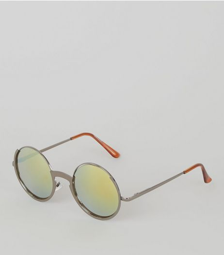Silver Round Sunglasses | New Look