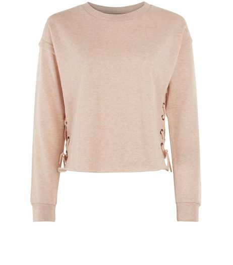 Teens Pink Lace Up Side Jumper | New Look