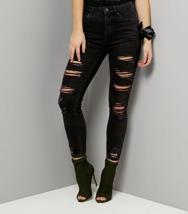 Black Ripped Skinny Jenna Jeans