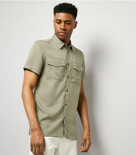 Khaki Short Sleeve Utility Shirt | New Look