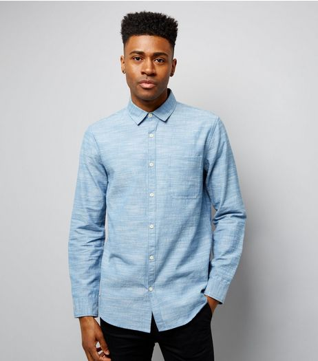 Blue Chambray Long Sleeve Shirt | New Look