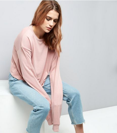 Pink Extra Long Sleeve Sweater | New Look
