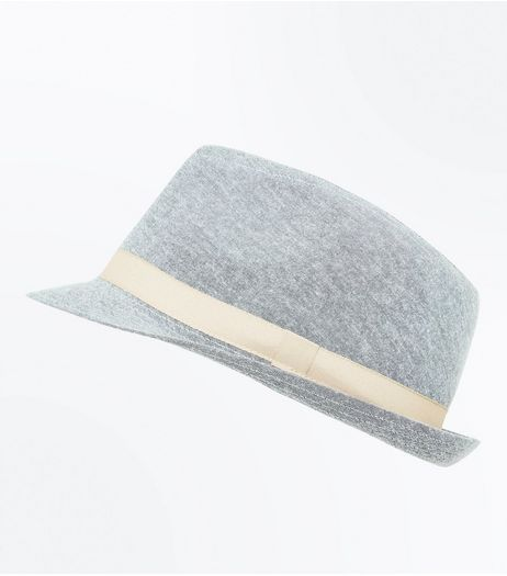 Grey Contrast Trim Trilby | New Look