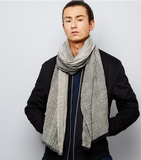 Grey Textured Ombre Scarf | New Look