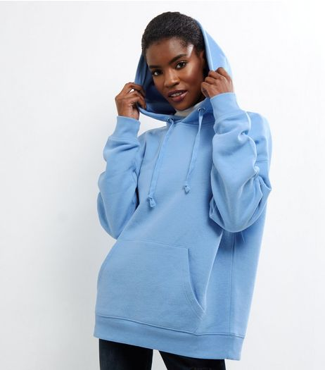 Blue Oversized Hoodie | New Look