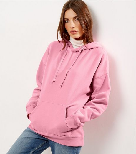 Bright Pink Oversized Hoodie  | New Look