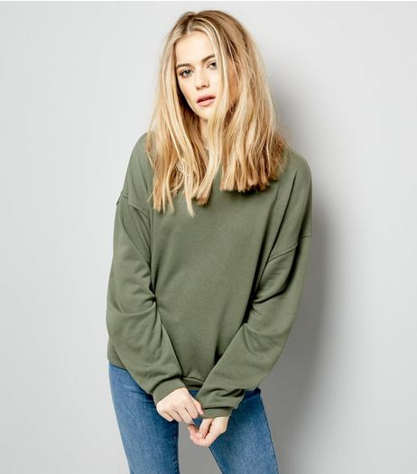 Khaki Sweater | New Look