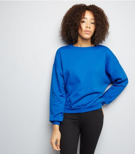 Blue Long Sleeve Sweater  | New Look