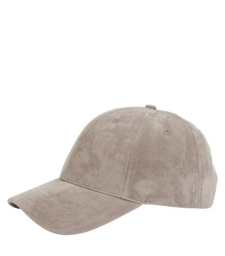 Grey Suedette Cap | New Look