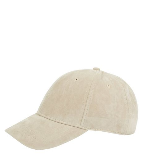 Stone Suedette Cap | New Look