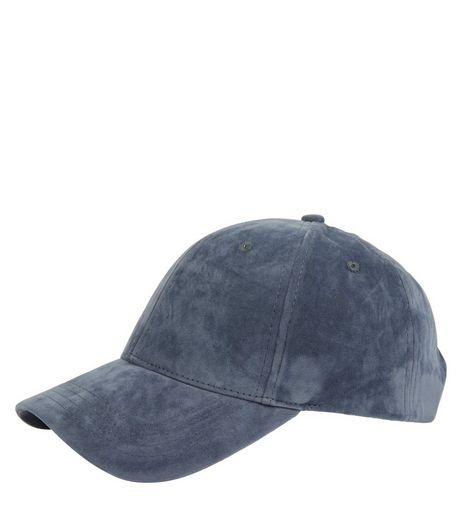 Light Blue Suedette Cap | New Look