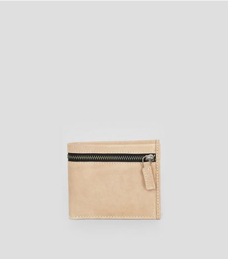 Stone Leather Zip Around Wallet | New Look