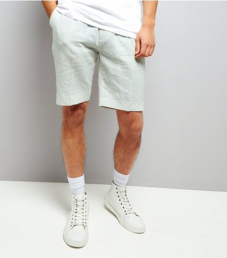 Off White Linen Tailored Shorts | New Look