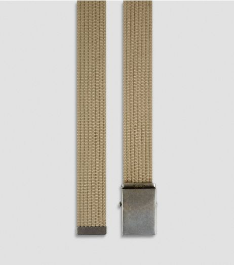 Stone Webbing Textured Belt | New Look