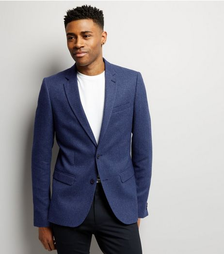Blue Warm Handle Blazer | New Look