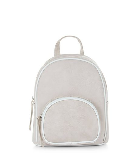 Cream Curved Mini Backpack | New Look
