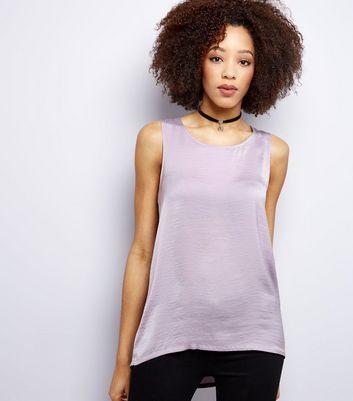 Lilac Sateen Vest