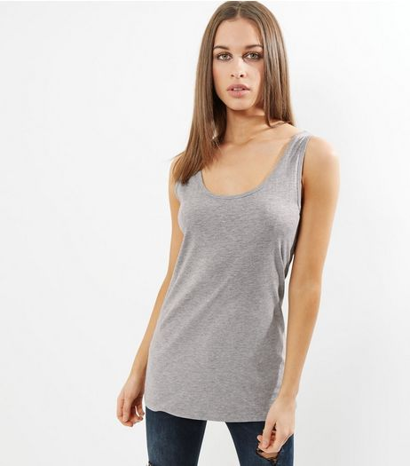 Tall Grey Scoop Neck Vest | New Look